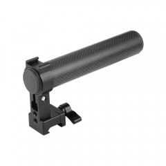 CAMVATE Top Handle Grip (Carbon Fiber Construction) With Quick Release NATO Clamp & Shoe Mount For DSLR Camera Cage Kit