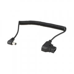 CAMVATE D-Tap To DC Barrel Coiled Cable For Atomos Monitor