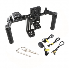 "CAMVATE 7"" Director's Monitor Cage Rig With V Lock Power Supply Splitter & Dual Handgrip"