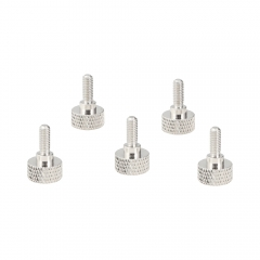 CAMVATE M4 Thumb Screw Button Head Cap Screw Brass Nickel (5 Pieces)