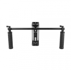 CAMVATE DIY Monitor Cage Kit With Dual Rubber-covered Handgrip & Light Stand Head