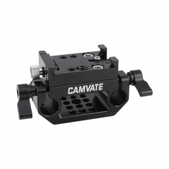 CAMVATE Manfrotto Quick Release Adapter Plate With 15mm Dual Rod Clamp Base For DSLR Camera Cage Kit