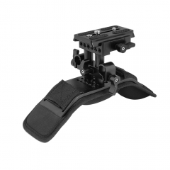 CAMVATE Pro Shoulder Mount With Manfrotto Quick Release Plate Assembly & Adjustable 15mm Railblock