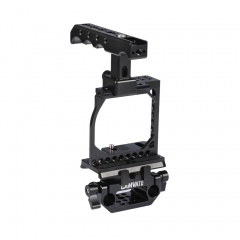 CAMVATE Full Cage Kit With Manfrotto QR Plate & NATO Cheese Handle & 15mm Railblock For Sony A6000 A6300 A6400 A6500 A6600 4K Camera