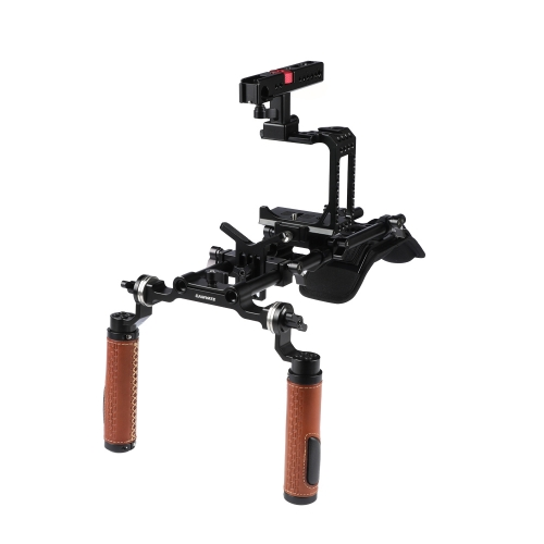 CAMVATE Pro Camera Shoulder Mount Rig With Half Cage Manfrotto Quick Release Plate Base For Sony A7s A7RII A7s2 A7sII A7r3 A7r4 A73 A9