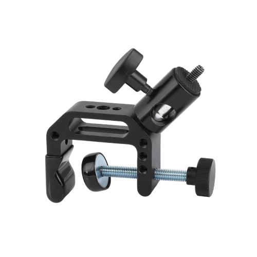 "CAMVATE Universal C Clamp With 1/4"" & 3/8"" Male & Female Thread Mounting Points & Light Stand Head Adapter"