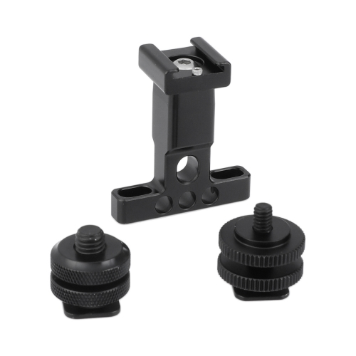 "CAMVATE Support Holder With Detachable Shoe Mount + 1/4"" & 3/8"" Male Thread Mounting Points & Lock Nuts"