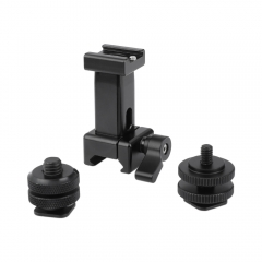 "CAMVATE Quick Release NATO Support Holder With Detachable Shoe Mount + 1/4"" & 3/8"" Male Thread Mounting Points & Lock Nuts"