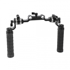 CAMVATE Rubber Handgrip With M6 ARRI Rosette Mount Connection & 15mm Railblock For Shoulder Rig (A Pair)