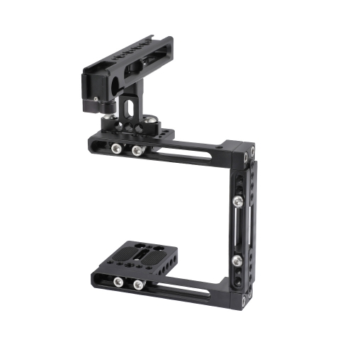 CAMVATE Extension-type Half Cage Kit With Adjustable Top Cheese Handle Grip For DSLR Camera (For Either Side Configuration)