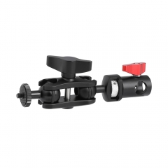 "CAMVATE Versatile Magic Arm Double Ball Head 1/4""-20 Thread Screw Mount + Light Stand Head Adapter For On-camera Monitor"