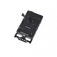 CAMVATE Quick Release V Lock Power Supply Splitter With Battery Plate