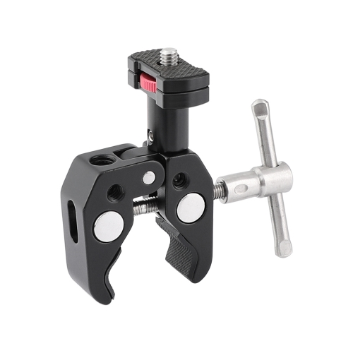 "CAMVATE Multiple-function Super Crab Clamp With 1/4"" & 3/8"" Threads + Mini Support Holder With 1/4"" Thumbscrew"