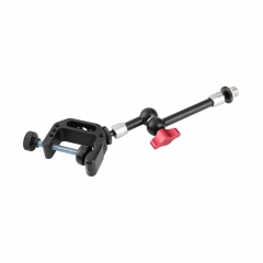 "CAMVATE Multipurpose C Clamp + Articulating Magic Arm (203mm long) With 5/8""-27 Microphone Screw Adapter"