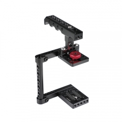 CAMVATE Simple Camera Cage Rig With Top Cheese Handle Grip For Canon M50