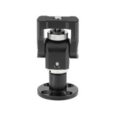 "CAMVATE Camera Monitor Support Holder With 1/4""-20 Thumbscrew Mount With Circular Wall Mount Base"
