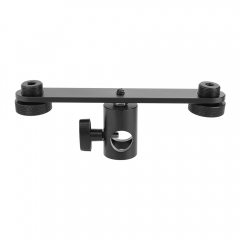 CAMVATE T-bar Bracket With Double Microphone Mounts & Light Stand Head Adapter
