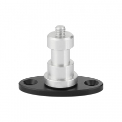 "CAMVATE 1/4""-20 Male Thread Screw Connector With Oval Base For Wall / Table / Ceiling Mounted Accessory"