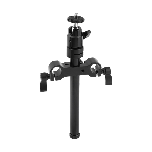 "CAMVATE Adjustable Support Holder Ball Head With 1/4"" Male Thread Mount + 15mm Aluminum Rod & Rail Block"