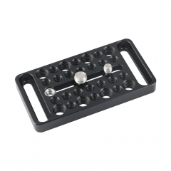 "CAMVATE Multipurpose Cheese Plate Extension Accessory With Central 1/4"" & 3/8"" Thread Screw & Numerous Mounting Points"