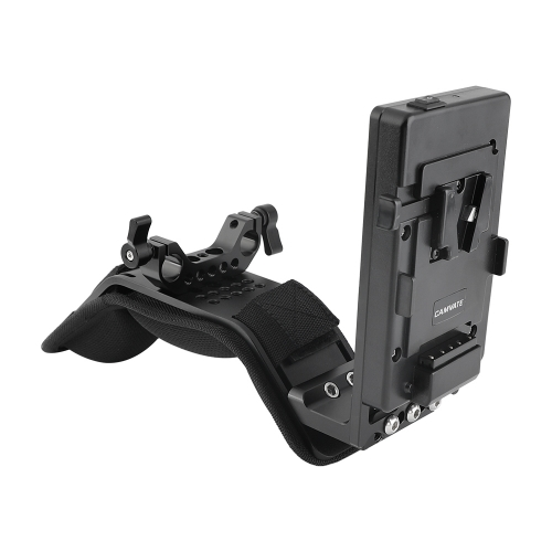 CAMVATE Padded Shoulder Mount With Frontward V Lock Mount Power Distributor Adapter & 15mm Railblock
