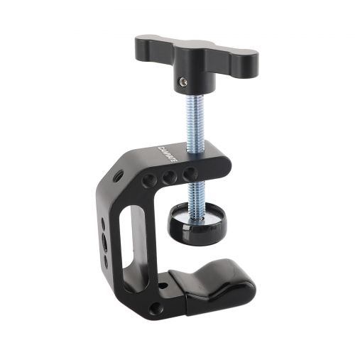 "CAMVATE C-clamp with 1/4""&3/8"" Thread (Black T-handle)"
