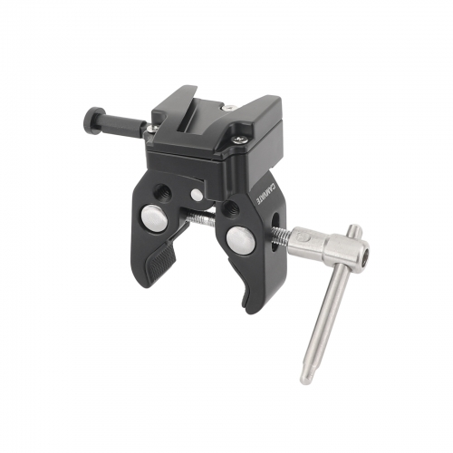 CAMVATE Super Crab Clamp + Universal V-Lock Mount Quick Release Adapter For DSLR Camera Battery
