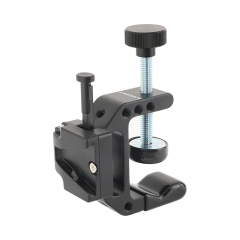 "CAMVATE Robust C Clamp With 1/4"" Mounting Points + Universal V-Lock Mount Quick Release Adapter For DSLR Camera Battery"