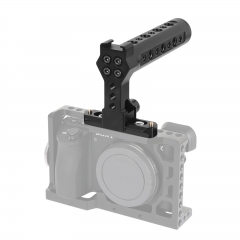 CAMVATE Aluminum Top Cheese Handle Grip With Quick Release NATO Clamp And 70mm NATO Safety Rail For DSLR Camera Cage Rig