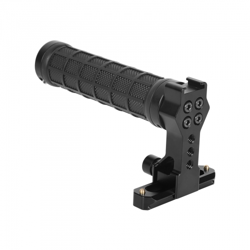 CAMVATE Quick Release NATO Top Handle Grip (Rubber-covered) With 70mm NATO Safety Rail For DSLR Camera Cage Rig