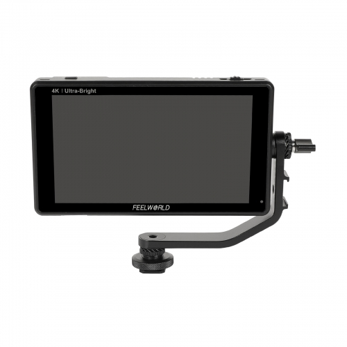 "CAMVATE FeelWorld LUT6 6"" 4K HDR/3K On-Camera Field Monitor With Waveform VectorScope + Cable & Tilt Arm"