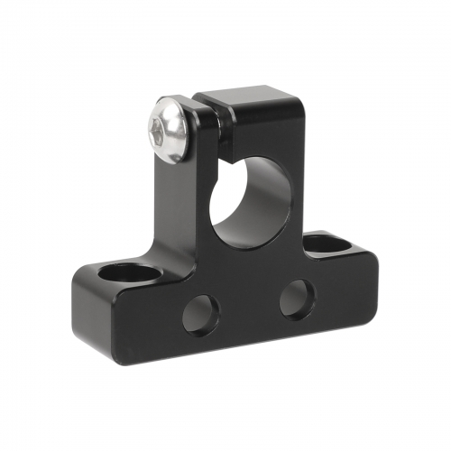 "CAMVATE Simple 15mm Single Rod Clamp With 1/4""-20 Unthreaded Mounting Points"