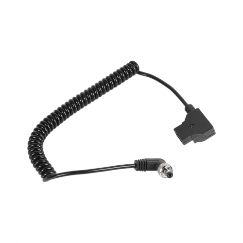 CAMVATE Coiled Cable D Tap To DC 2.5mm Right Angle With Lock For Monitor / Video Devices Power Supply (Universal)