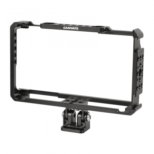 "CAMVATE FeelWorld LUT6 & LUTS6 6"" Monitor Cage Armor Bracket With Adjustable Monitor Support Holder"