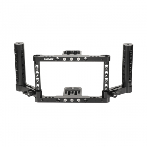 "CAMVATE 5"" & 5.5"" Director's Monitor Cage Kit With Adjustable Dual Cheese Handgrip For Atomos NinjaV And Shinobi"