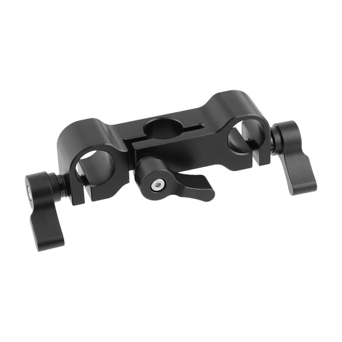 CAMVATE Standard 15mm Railblock Clamp 3-Port For DSLR Camera Rod Supporting System