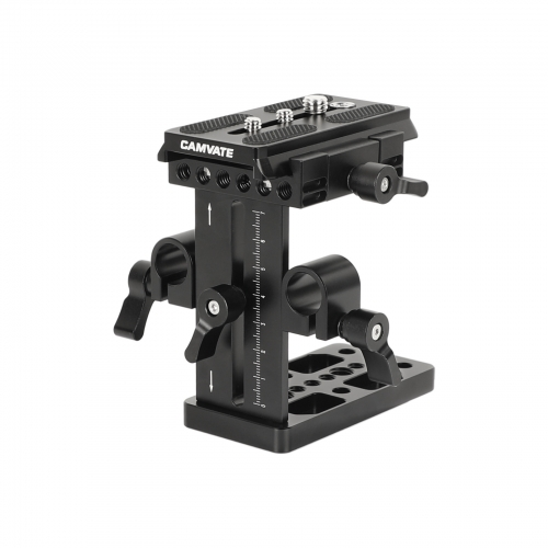CAMVATE Manfrotto Quick Release Plate With Up-and-down Adjustable 15mm Rail Block And Bottom Cheese Plate For Shoulder Mount Rig / Tripod