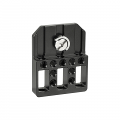 "CAMVATE Top / Bottom Mounting Plate With 1/4"" Mounting Stud For Director's Monitor Cage Kit (Universal Use)"
