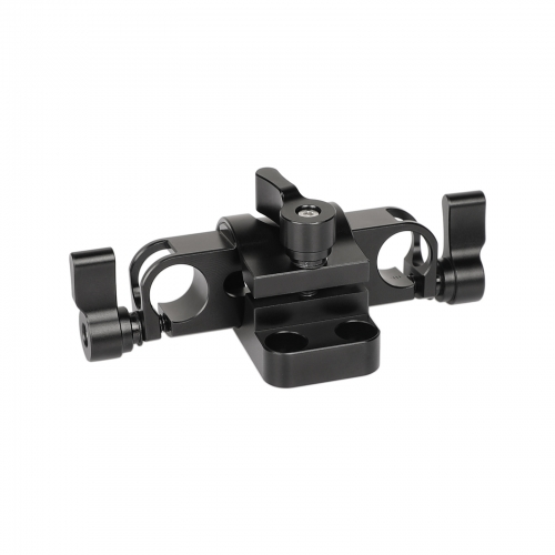 CAMVATE 360 Degree Rotating 15mm Rail Blocks Clamp For DSLR Camera Rod Supporting System