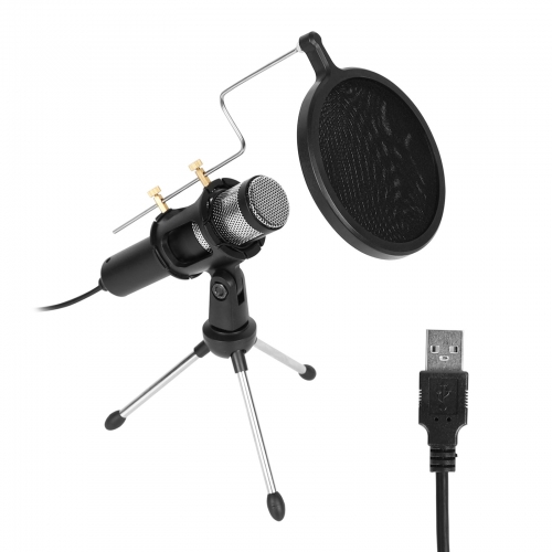 CAMVATE Consumer USB Desktop Microphone Plug And Play With Tripod Desk Stand For PC  Laptop Conference Gaming Streaming Podcasting