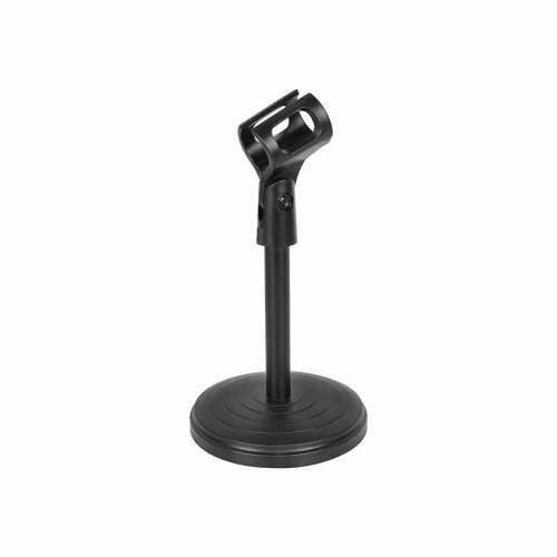 CAMVATE Desk Microphone Clip Stand 180 Degree Adjustable With Plastic Round Base