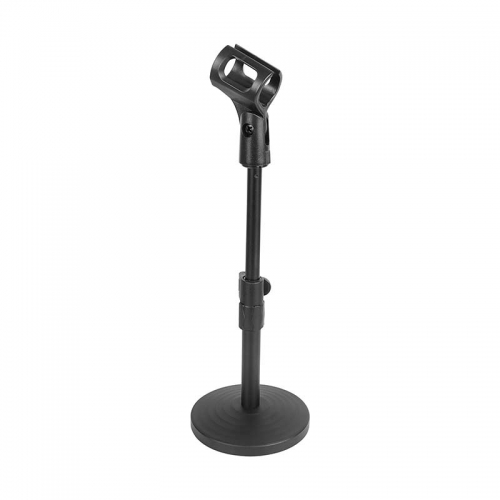 CAMVATE Height Adjustable Microphone Stand With 180 Degree Angle Adjustable Clip And Metal Iron Round Base