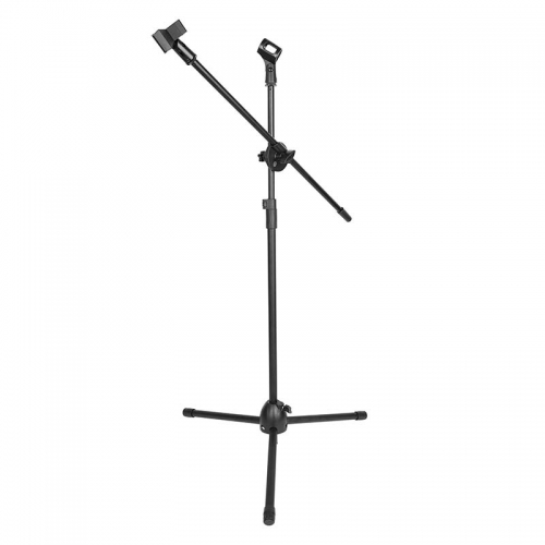 CAMVATE Tripod Microphone Boom Stand With Double Spring-loaded Mic Clips And Heavy Metal Base For Studio Recording Stage Performance