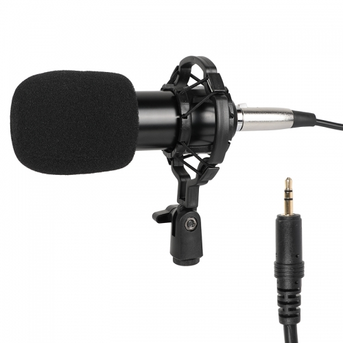 CAMVATE Condenser Microphone 3.5mm To XLR Cable Mic Kit Plug And Play With Shock Mount For Studio Recording Broadcasting
