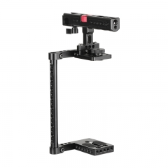 CAMVATE Simple Camera Cage Kit With Top Cheese Handle Equipped With Double Shoe Mounts & 15mm Railblock For Large DSLR Camera
