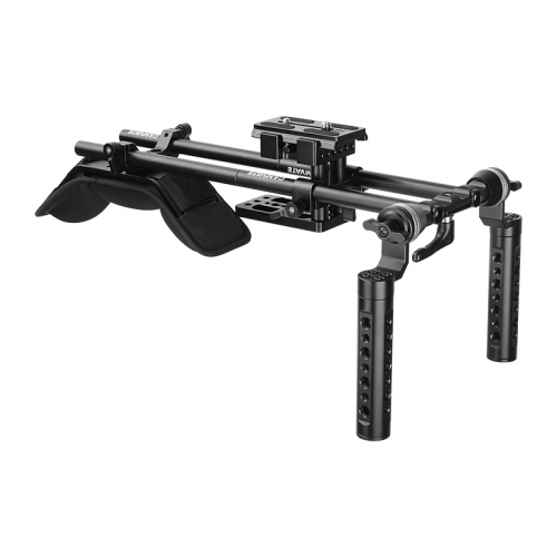 CAMVATE Handheld Shoulder Mount Rig With Manfrotto Quick Release Baseplate & Dual ARRI Rosette Aluminum Cheese Handgrip
