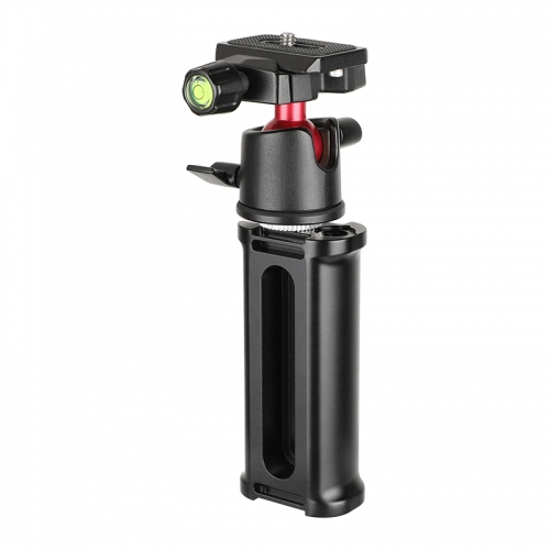 "CAMVATE Aluminum Handle Grip + 360° Rotating Tripod Head Adapter With Quick Release Baseplate 1/4"" Mounting Screw"