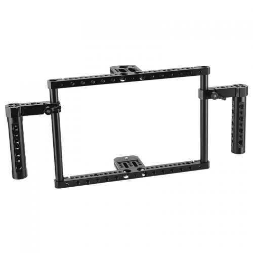 "CAMVATE Simple Monitor Cage Kit 172mm In Height For 7""- 10"" On-camera Monitor With Adjustable Cheese Handgrips"