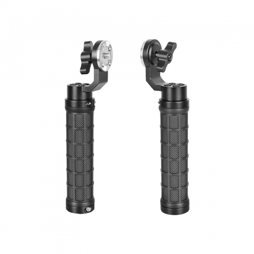 CAMVATE Rubber-covered Hand Grip ( A Pair) With ARRI Rosette M6 Thumbscrew Knob For Handheld Camera Shoulder Mount Rig