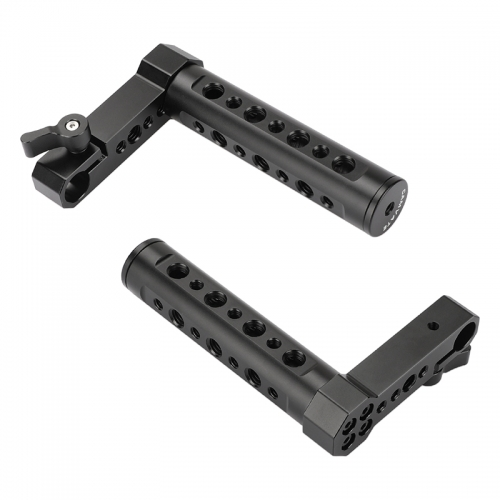 CAMVATE Adjustable Aluminum Cheese Hand Grip (A Pair) L Handle With 15mm Rod Clamp Connection For Monitor Cage Kit